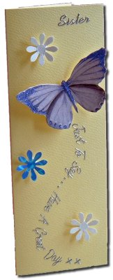 Janz » Beautiful, Handmade, 3D Butterfly Card